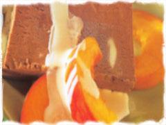 Sjokoladeiskrem med marshmallows.